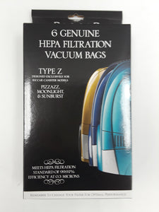 Riccar Type Z HEPA Filtration Bags (6-Pack) RZH-6 - VacuumStore.com