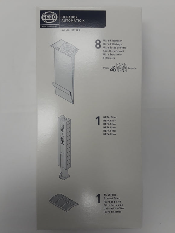 Sebo X Series HEPABOX 8 Bags Plus HEPA Filter - VacuumStore.com