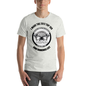 2017 Top 100 Raw Lifter Ranking Short-Sleeve Unisex T-Shirt (Lighter Colors)