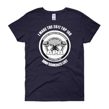 I made the 2017 Top 100 Raw Lifters Ranking List - Women's short sleeve t-shirt