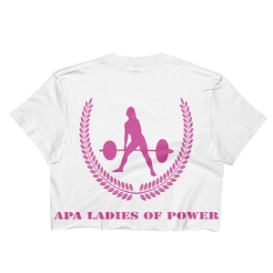 APA Ladies Of Power - Edgy Style Front & Back Ladies Crop Top