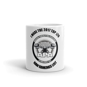 2017 Top 100 Ranked Lifter Mug