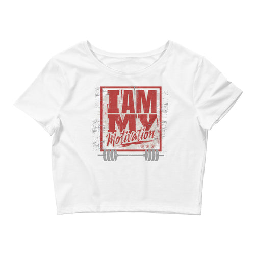 I Am My Motivation Women's Crop Tee