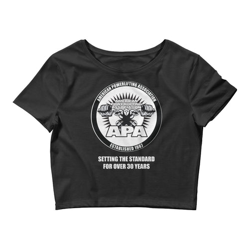 APA - Setting the Standards for over 30 year Women's Crop Tee