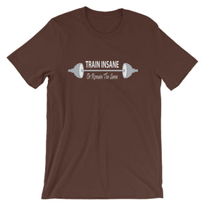 Train Insane Or Remain The Same Unisex T-Shirt