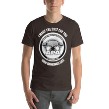 2017 Top 100 Raw Lifter Ranking List - Short Sleeve Unisex T-Shirt (Dark Colors)