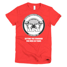 APA - Setting the Standards for over 30 year Short sleeve women's t-shirt