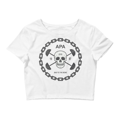 APA Bad To The Bone Women's Crop Tee