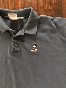 Mickey Embroidered Polo (Navy)