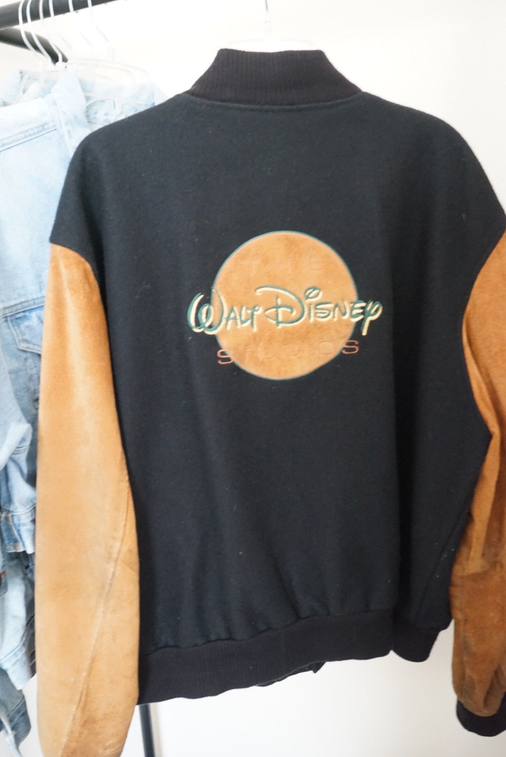 Walt Disney Studios Sueded Varsity Jacket