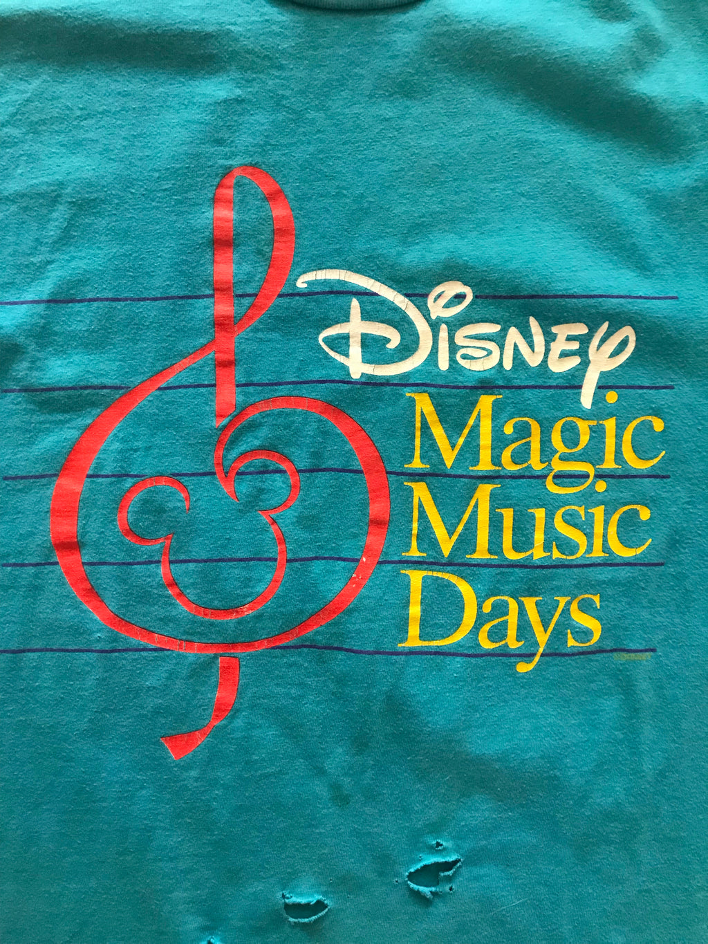 Disney Magic Music Days Tee (Teal Thrashed)