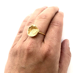 Flame medium gold ring