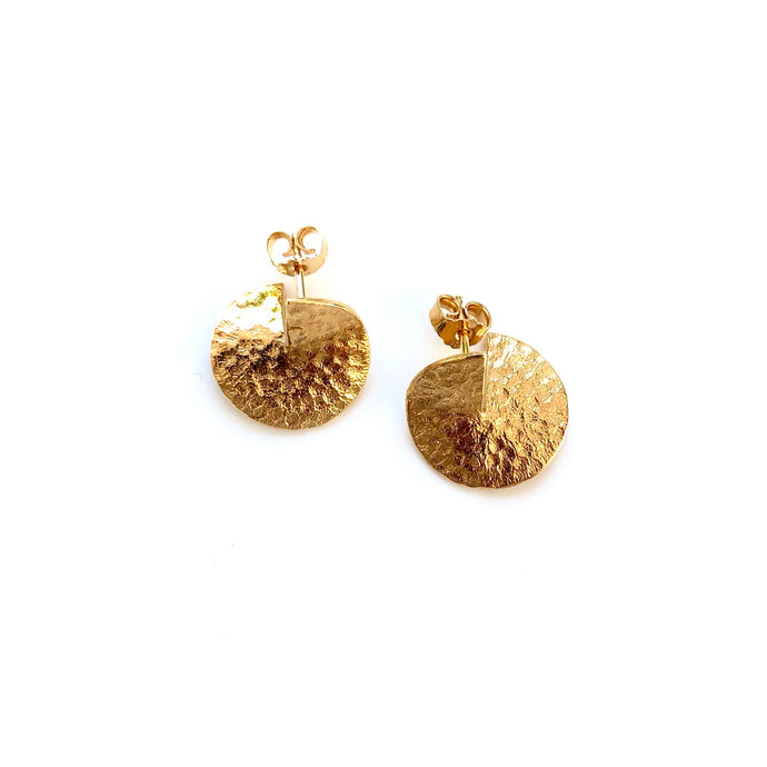Flame medium gold earrings