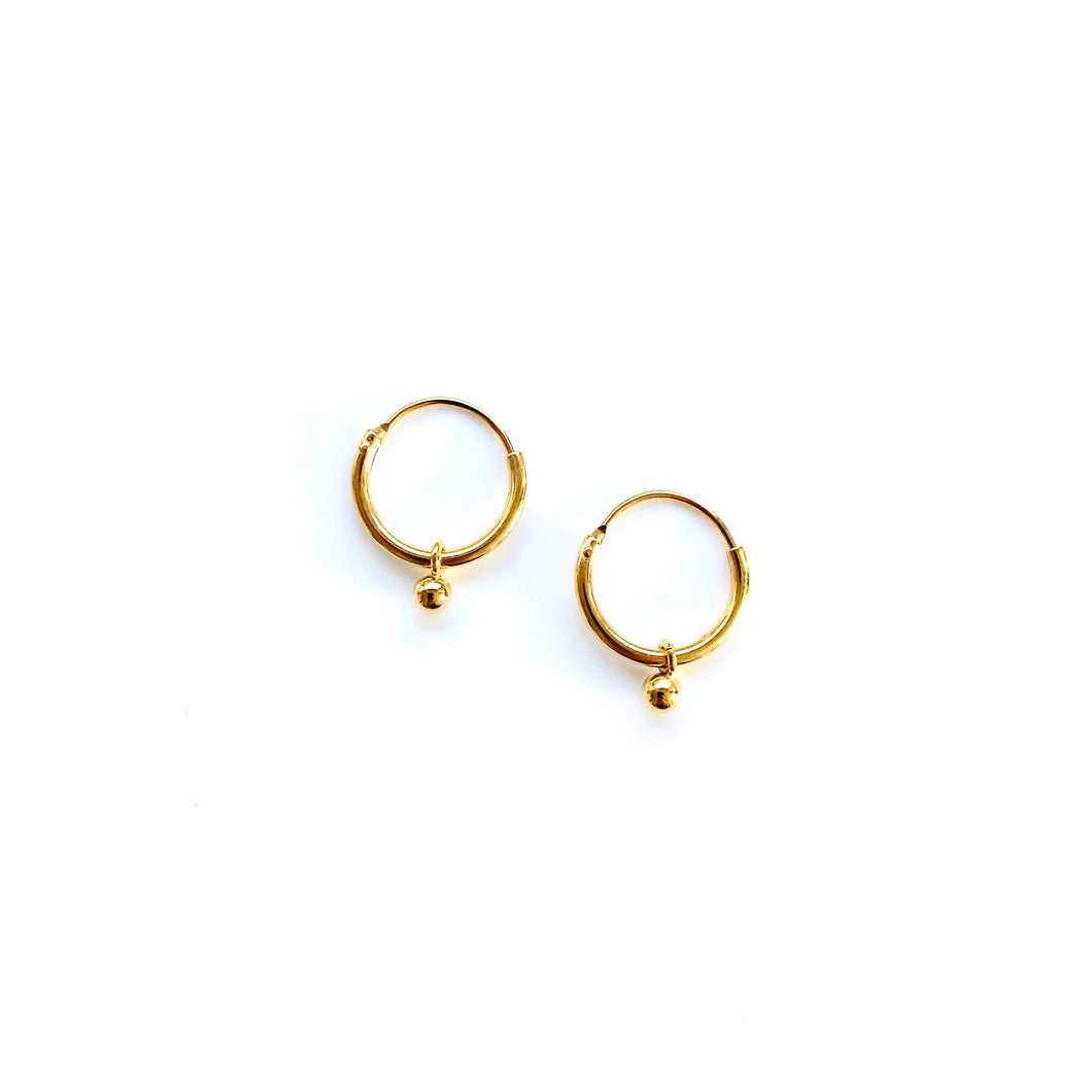 Sa gold small earrings
