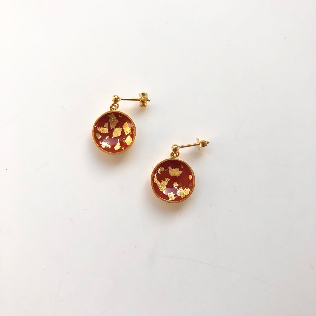 Painty brown earrings