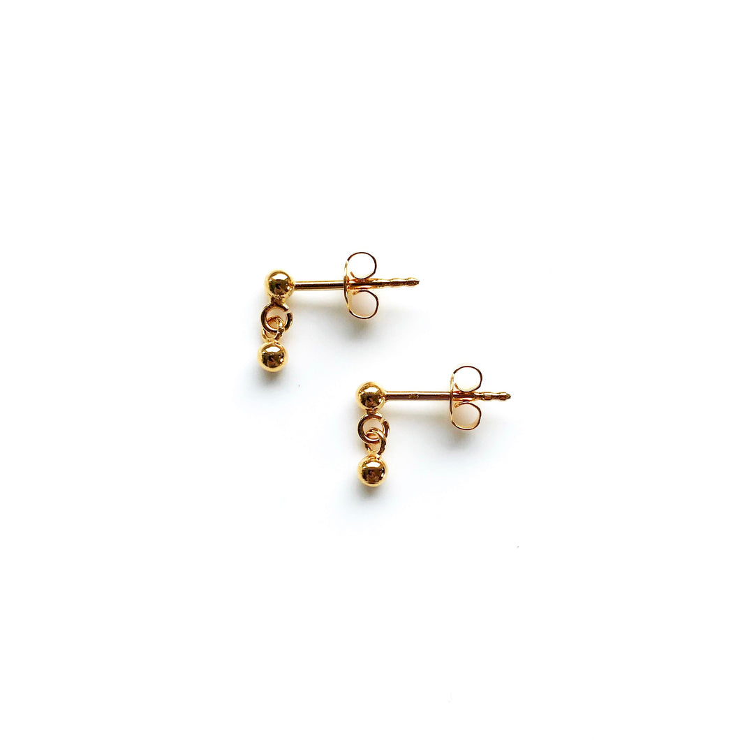 Sandy gold earrings