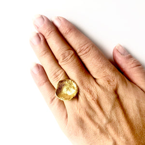 Flame mega  gold ring