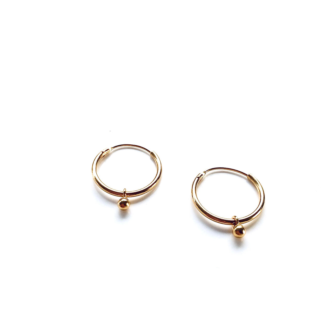 Sa gold medium earrings
