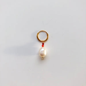 Treasure red earring