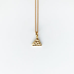 Triangle small gold necklace