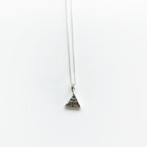 Triangle small silver necklace