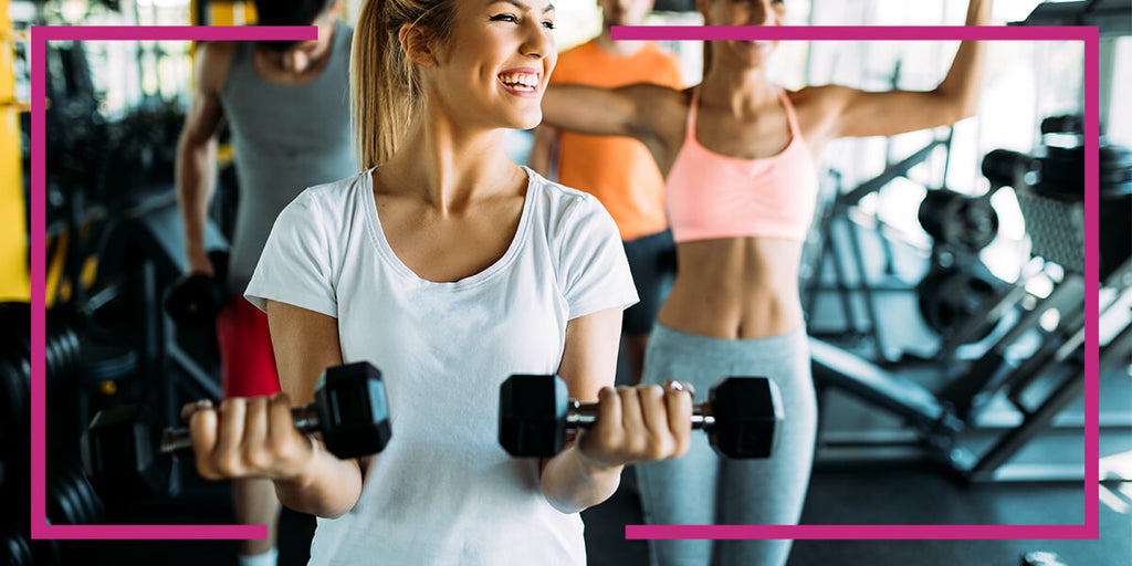 Working out in gym - HempElf CBD Blog on Athletes and CBD