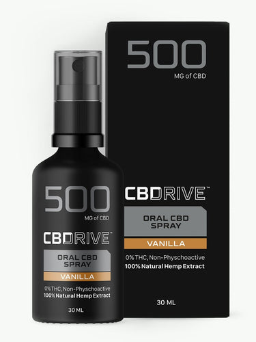 500mg CBD Oil Spray UK | Sports | Vanilla