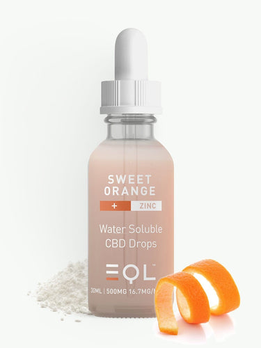500mg CBD Water Soluble|Zinc, Sweet Orange & Ginger