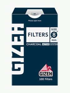 Gizeh Charcoal Filter Tips 8mm