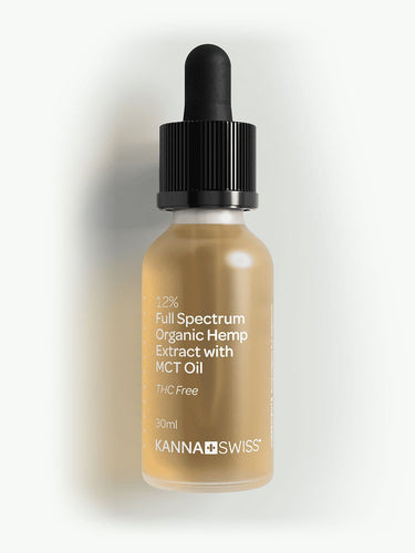 12% Full Spectrum Organic Hemp Extract 3600mg CBD | 30ml | KannaSwiss | High Strength