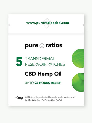 CBD Topical Hemp Patch UK 5-Pack | 200MG | Pure Ratios