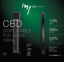 IZY vape disposable vaporiser CBD isolate weed hemp cannabis