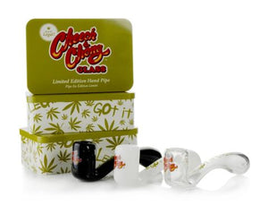 Limited Edition Commemorative Cheech & Chong™ Glass Commemorative Sherlock Hand Pipe