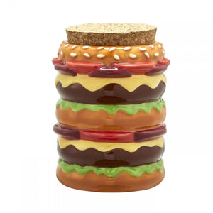 Cheeseburger Ceramic Stash Jar