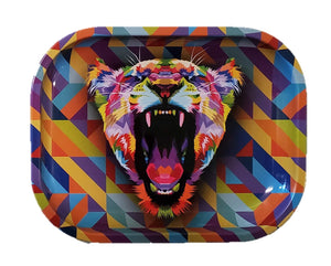 Yelling Lion Metal Rolling Tray
