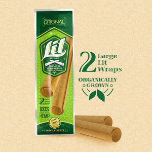 Lit Wraps™ – Premium Hemp Wrap Natural