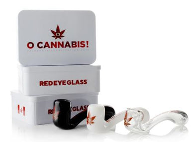 Limited Edition Red Eye Glass® 'O Cannabis' Commemorative Sherlock Hand Pipe