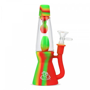 "LIT SILICONE - 8.25"" Lava Lamp Water Pipe"