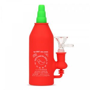 "LIT SILICONE 6.5"" Chili Bottle Water Pipe"