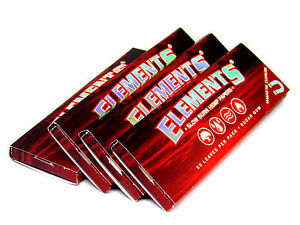 Elements Red Hemp Slow Burning Rolling Papers