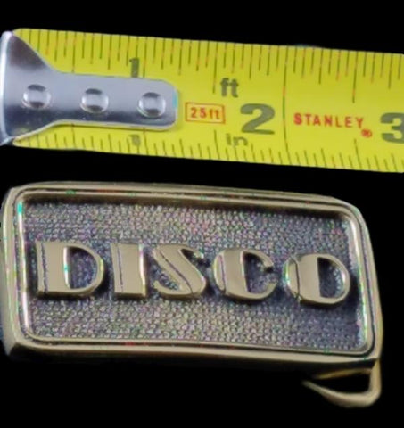 Belt Buckle 1970'S Solid Brass Vintage