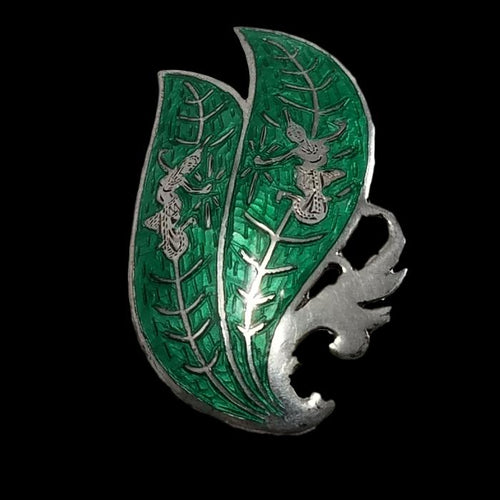 Vintage Enameled Sterling Siam brooch