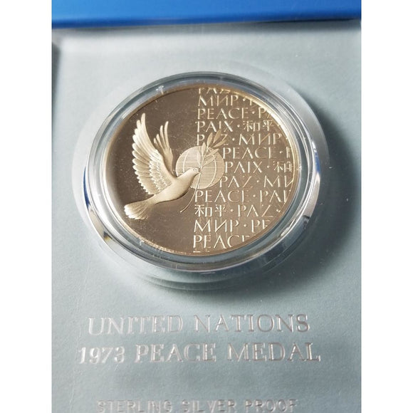 1973 United Nations Peace Medal, sterling silver