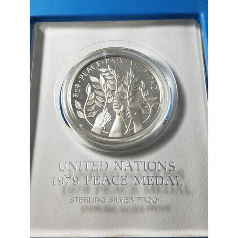 1979 United Nations Peace Medal, sterling silver
