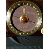 Vintage 1950's Deco Zenith Model K725 Walnut Bakelite AM/FM Tube Radio