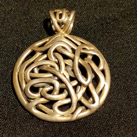 Sterling  interwoven pendant