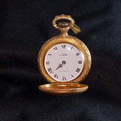 Chateau Swiss Pocket Watch with Repousse Woman