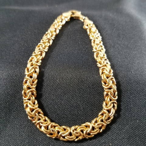 Italian Gold Over Sterling Bracelet