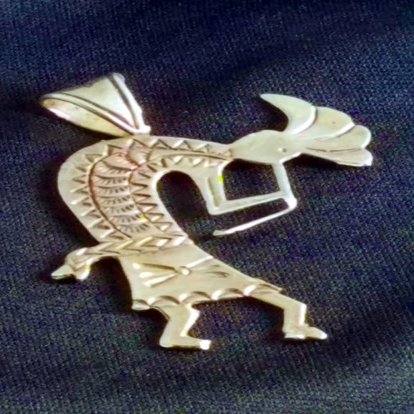 Sterling Kokopelli Pendant
