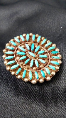 Vintage  Sterling/Turquoise Brooch/Pendant